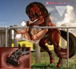 abdominal_bulge anthro anthro_on_feral bestiality big_breasts bound breasts bulge canine cervical_penetration deep_penetration equine feral fox half-closed_eyes horse internal interspecies llmixll mammal penetration rope vaginal vaginal_penetration wet  Rating: Explicit Score: 19 User: BlazinSkrubs Date: August 31, 2015