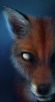 ambiguous_gender black_nose blind blue_background canine close feral fluffy fox foxbane fur inner_ear_fluff long_mouth looking_at_viewer mammal no_pupils no_sclera orange_fur photorealism pointy_ears portrait red_fox simple_background snout solo whiskers white_eyes white_fur