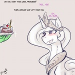 2015 anon blush cake dialogue dragk drooling duo english_text equine female feral food friendship_is_magic horn human imminent_sex male mammal my_little_pony princess_celestia_(mlp) saliva text winged_unicorn wings  Rating: Questionable Score: 10 User: Robinebra Date: August 31, 2015