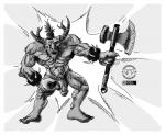 abs axe bovine broken_horn collar ear_piercing horn male mammal melee_weapon minotaur muscular navel nipples nude penis piercing solo spiked_collar teeth weapon white-briefs  Rating: Explicit Score: 2 User: syrmat Date: October 26, 2015