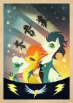 2014 badge blue_hair brown_eyes equine eyewear female fleetfoot_(mlp) friendship_is_magic goggles green_eyes hair hi_res male mammal my_little_pony necktie orange_hair pegasus poster rariedash skinsuit soarin_(mlp) spitfire_(mlp) stars two_tone_hair uniform white_hair wings wonderbolts_(mlp)   Rating: Safe  Score: 11  User: 2DUK  Date: March 04, 2014