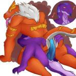anthro blush daikuhiroshiama hot_dogging male male/male nintendo penis pokémon pokémon_(species) reptile scalie sex snake tyrantrum video_games