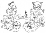 anthro blush buttercup_saiyan cream_the_rabbit female female/female group hand_on_thigh hedgehog hi_res looking_back mammal marine_the_raccoon multiple_positions navel nipple_bulge open_mouth pigtails raised_leg ringed_tail sex skirt_up sonic_(series) spread_legs spreading tribadism  Rating: Explicit Score: 8 User: BCS Date: May 16, 2012