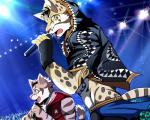 2017 anthro bearlovestiger13 clothed clothing clouded_leopard feline fur leopard_cat likulau male mammal nekojishi shu-chi simple_background spots tattoo
