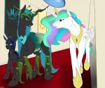 2015 backlash91 changeling equine female feral friendship_is_magic group horn mammal my_little_pony princess_celestia_(mlp) queen_chrysalis_(mlp) winged_unicorn wings  Rating: Safe Score: 21 User: Robinebra Date: October 26, 2015
