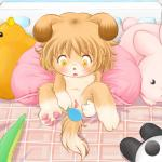 anthro blush canine censored cub dog female genital_exploration hand_mirror kamekichi mammal mirror nipples nude open_mouth plushie pussy solo spread_legs spread_pussy spreading yellow_eyes young  Rating: Explicit Score: 12 User: slyroon Date: December 27, 2015