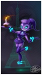 blue_eyes candle cleavage clothed clothing cupcake female fernando_faria food glowing glowing_eyes looking_at_viewer machine not_furry robot solo  Rating: Safe Score: 2 User: Nuji Date: September 19, 2015