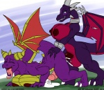 balls big_breasts black_dragon breasts cum cynder dragon herm ignatius_husky intersex penetration penis purple_dragon sex spyro spyro_the_dragon wings   Rating: Explicit  Score: 9  User: yiffwolf  Date: May 27, 2011