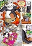2012 anthro arthropod avian better_late_than_never bird comic daigaijin dialogue dreamworks female giant_panda golden_snub-nosed_monkey haplorhine insect kung_fu_panda male mammal master_crane master_mantis master_monkey master_po_ping master_viper monkey old_world_monkey painting_(artwork) primate reptile scalie snake snub-nosed_monkey text traditional_media_(artwork) ursid watercolor_(artwork)