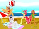 anthro apple_bloom_(mlp) babs_seed_(mlp) ball beach beach_ball beverage bikini clothing dekomaru earth_pony equine female food friendship_is_magic green_eyes group hair hair_bow hair_ribbon hi_res horn horse mammal multicolored_hair my_little_pony outside pegasus pony purple_eyes purple_hair red_eyes red_hair ribbons scootaloo_(mlp) seaside sling_bikini spread_legs spreading sweetie_belle_(mlp) swimsuit towel umbrella unicorn wings  Rating: Questionable Score: 3 User: Robinebra Date: September 19, 2015