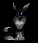 2015 2_tails alpha_channel ambiguous_gender black_fur black_lips black_nose blue_eyes canine darkeeveeon digitigrade eevee eeveelution feral fluffy fox fur grey_fur hindpaw long_ears long_mouth looking_at_viewer mammal markings multiple_tails nintendo no_sclera paws pokémon simple_background sitting slit_pupils snout socks_(marking) solo transparent_background video_games white_fur  Rating: Safe Score: 2 User: DarkEeveeon Date: October 02, 2015