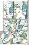 blue_eyes blush brown_eyes comic doujinshi eeveelution female feral flat_chested glaceon kemono kissing leafeon licking male mikaduki_karasu nintendo nipples pokémon sex tongue tongue_out translated video_games  Rating: Explicit Score: 8 User: GONE_FOREVER Date: April 04, 2015