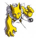 ambiguous_gender chest_tuft fur humanoid hypno looking_at_viewer nintendo pokémon simple_background solo through_wall tuft unknown_artist video_games white_background