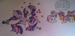 apple_bloom_(mlp) blush cub cutie_mark cutie_mark_crusaders_(mlp) drunk equine female female/female feral friendship_is_magic group horn horse love mammal my_little_pony pegasus plain_background pony rarity_(mlp) scootaloo_(mlp) sibling sisters sonisk sweetie_belle_(mlp) twilight_sparkle_(mlp) unicorn white_background wings young   Rating: Safe  Score: 10  User: Kholchev  Date: June 06, 2012