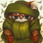 ambiguous_gender antanariva anthro big_eyes clothed clothing fur hair mammal mittens red_panda scarf solo sweater