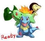 2009 :s ambiguous_gender angry anthro black_body blue_body chikorita cyndaquil digital_media_(artwork) english_text enon eyes_closed feral fire flora_fauna green_body leaf looking_at_viewer nintendo open_mouth open_smile plant pokémon red_eyes reptile scalie sharp_teeth simple_background smile smug teeth text totodile video_games white_background yellow_bodyRating: SafeScore: 0User: DelurCDate: November 15, 2016