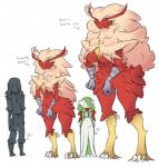 ambiguous_gender anthro black_eyes blaziken boots breasts clothing dorian-bc feathers feather_tuft female footwear gardevoir group hi_res human larger_female mammal nintendo pants pokémon pokémon_(species) red_feathers red_scarf scarf scutes simple_background size_difference smaller_ambiguous smaller_female standing talons tan_feathers topwear tuft video_games white_background wide_hips yellow_feathersRating: SafeScore: 6User: laranjaDate: May 20, 2019