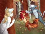 anthro breasts cat chase cub feline female forest fur hair hunting interspecies littlepuppet male mammal nude predator predator/prey_relations prey rodent running squirrel tears tree young  Rating: Questionable Score: 16 User: Balmung_ Date: October 15, 2015