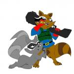 anthro cartoon_hangover cigar coco_(doctor_lollipop) colored doctor_lollipop duo gloves gun mammal marvel plain_background raccoon ranged_weapon rocket_raccoon unknown_artist virtigogun weapon   Rating: Safe  Score: 4  User: VIRTIGOGUN  Date: December 19, 2013