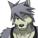 anthro bipedal black_nose black_topwear bust_portrait canine clothing cute digital_media_(artwork) dog front_view fur grey_fur grey_hair grin hair high-angle_shot husky kouya_aotsuki looking_at_viewer low_res male mammal morenatsu necklace one_eye_closed plain_background shirt solo tank_top unknown_artist white_background wink yellow_eyes   Rating: Safe  Score: 6  User: OrionGTG  Date: October 20, 2013