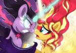 2015 daydream_shimmer_(eg) duo equestria_girls equine eye_mist female friendship_is_magic horn joakaha mammal mask midnight_sparkle_(eg) my_little_pony nose_to_nose sunset_shimmer_(eg) twilight_sparkle_(mlp) winged_unicorn wings  Rating: Safe Score: 10 User: 2DUK Date: October 14, 2015