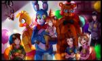 animatronic balloon bow_tie canine children five_nights_at_freddy's five_nights_at_freddy's_2 food fox glowing glowing_eyes hat human machine male mammal mangle_(fnaf) mechanical party_hat pizza robot thehobbyhorse toy_bonnie_(fnaf) toy_chica_(fnaf) toy_freddy_(fnaf) video_games yellow_eyes   Rating: Safe  Score: 3  User: Vallizo  Date: April 26, 2015