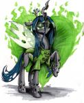 2015 <3 changeling clothing english_text eyeshadow fangs female friendship_is_magic green_eyes green_theme holes horn looking_at_viewer makeup mattings my_little_pony queen queen_chrysalis_(mlp) royalty shirt slit_pupils solo text wings   Rating: Safe  Score: 11  User: 2DUK  Date: March 18, 2015