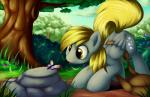 2015 arthropod bag butterfly cute derpy_hooves_(mlp) equine female feral flower friendship_is_magic grass grennadder insect mammal my_little_pony pegasus plant tree wings   Rating: Safe  Score: 15  User: Robinebra  Date: March 30, 2015