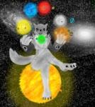 alternate_color anthro canine digimon female fox giga juggle macro mammal planet renamon solar solo space sun system  Rating: Safe Score: -1 User: 1122 Date: November 04, 2012