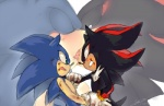 <3 anthro black_fur blood blue_fur blush clothing duo eyes_closed fight french_kissing fur gloves green_eyes hedgehog kissing male male/male mammal open_mouth plain_background red_eyes red_fur shadow_the_hedgehog soina sonic_(series) sonic_the_hedgehog video_games white_background white_fur  Rating: Questionable Score: 3 User: Black_Light Date: June 05, 2015""