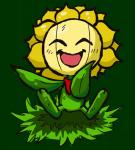 bork flora_fauna flower nintendo plant pokémon pokémon_(species) simple_background smile solo sunflora video_games