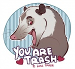 <3 holidays humor insult mammal marsupial open_mouth opossum salkitten teeth text tongue trash valentine's_day  Rating: Safe Score: 11 User: citrakayah Date: April 29, 2016