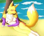 2017 anthro big_breasts blush breasts clothing digimon digital_media_(artwork) female fur gloves hair heathecliff nipples nude renamon short_hair sleeping smile solo tongue tongue_out tree white_fur yellow_furRating: ExplicitScore: 2User: HeathecliffDate: March 21, 2017