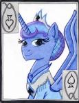 blue_eyes blue_fur blue_hair card equine female friendship_is_magic fur hair horn looking_at_viewer mammal my_little_pony playing_card princess_luna_(mlp) solo the1king winged_unicorn wings   Rating: Safe  Score: -2  User: The1King  Date: March 30, 2014