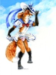 anthro bulge canine clothing crossdressing fox heather_bruton male mammal panties school_uniform schoolgirl_uniform solo underwear  Rating: Questionable Score: 2 User: gosman Date: September 20, 2010