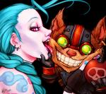 2013 <3 alpha_channel anthro bomb canine duo explosives female fox grin half-closed_eyes human human_on_anthro interspecies jinx_(league_of_legends) league_of_legends licking looking_at_viewer male mammal momo-deary pale_skin pink_eyes saliva suggestive tattoo tongue tongue_out video_games ziggs   Rating: Safe  Score: 35  User: Munkelzahn  Date: October 16, 2013