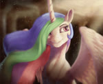 2018 <30_second_webm absurd_res animated detailed equine feathered_wings feathers female feral friendship_is_magic fur hair hi_res horn long_hair mammal multicolored_hair my_little_pony no_sound princess_celestia_(mlp) smile solo spread_wings starblaze25 sunlight theshadowscale white_feathers white_fur winged_unicorn wings