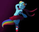 2013 ballerina blue_fur clothing dancing equine eyes_closed female friendship_is_magic fur hair mammal multicolored_hair my_little_pony pegasus purple_eyes raikoh-illust rainbow_dash_(mlp) rainbow_hair scarf skirt solo standing tutu wings  Rating: Safe Score: 8 User: 2DUK Date: July 13, 2013