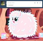 2013 blue_eyes english_text equine fan_character female fluffle_puff fluffy friendship_is_magic frosting fur hair horse mammal mixermike622 my_little_pony pink_fur pink_hair pony solo text tumblr   Rating: Safe  Score: 3  User: anthroking  Date: February 15, 2014