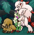 abdominal_bulge albino anal anthro big_dom_small_sub canine crossover digital_media_(artwork) erkgloom fan_character group group_sex hi_res humanoid_penis hyper jungle kissing kobold larger_male male male/male mammal nintendo penis pokémon psik saliva sex size_difference sketch smaller_male smudge_proof spiral_knights tongue train_position video_games wolver zoroark  Rating: Explicit Score: 4 User: Smudge_Proof Date: August 17, 2015