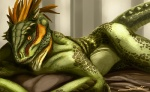 amber_eyes argonian female green_skin horn lying nude pinup scales scalie solo syrinoth the_elder_scrolls video_games   Rating: Questionable  Score: 29  User: FwP  Date: February 20, 2013