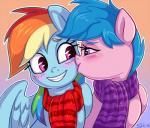 2016 blue_hair blush duo equine female female/female firefly_(pre-g4) friendship_is_magic hair kissing mammal my_little_pony pegasus rainbow_dash_(mlp) scarf sorcerushorserus wings  Rating: Safe Score: 11 User: 2DUK Date: January 02, 2016