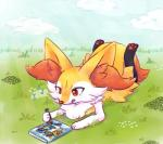 anthro box braixen canine cloud crayons cute drawfag drawing female flower fox fur grass humming lying mammal nintendo notes nude pawpads paws plant pokken_tournament pokémon red_eyes singing sky solo tongue video_games yellow_fur  Rating: Safe Score: 31 User: Nugget91 Date: March 29, 2016