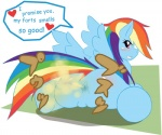 <3 alexandraflordicharlotte anus blush butt english_text fart fart_fetish friendship_is_magic japanese_text my_little_pony presenting presenting_hindquarters pussy rainbow_dash_(mlp) solo teeth text   Rating: Explicit  Score: -5  User: Percotech  Date: May 16, 2015