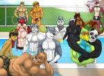 2015 abs anthro avian bear biceps bird black_fur blue_body brown_fur bulge canine cat chest_tuft cigar clothed clothing dog dragon feathers feline fest fish fox fur garret green_body grey_fur group hair half-dressed holding holding_glass hug husky lion male mammal marine markings muscles nipples panda party pecs pink_fur pool rain-yatsu rainier red_fur sausage seattle_fur shark shorts smile smoke speedo standing stripes swimsuit tim toned topless tuft underwear water white_fur wolf   Rating: Safe  Score: -2  User: Vallizo  Date: March 14, 2015