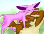 anal anal_penetration breasts canine duo eeveelution espeon female female/female feral furreon interspecies lagomorph lopunny mammal nintendo nude open_mouth penetration pokémon pussy pussy_juice rabbit restrained sex tail_sex vaginal vaginal_penetration video_games   Rating: Explicit  Score: 8  User: Raria  Date: May 22, 2013