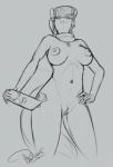 2015 anthro anthrofied areola black_and_white breasts clipboard cutie_mark equine female hair hand_on_hip horse mammal monochrome ms_harshwhinny necklace nipples nude phathusa pony pussy scarf solo   Rating: Explicit  Score: 1  User: 2DUK  Date: March 26, 2015