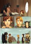 2011 anthro astrid_(httyd) bed comic doujinshi female hiccup_(httyd) how_to_train_your_dragon human humanized jotaku male mammal ruffnut scalie snotlout_(httyd) surprise toothless tuffnut wings  Rating: Questionable Score: 8 User: Knotty_Curls Date: May 12, 2015""