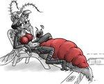anthro arthropod arthropod_abdomen big_breasts breasts dipteran female genitals half-dude hi_res human human_pet insect male mammal micro misty_(half-dude) mosquito multi_arm multi_limb nude poolside pussy relaxing