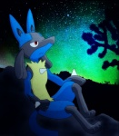 2013 ambiguous_gender anthro desert lucario night nintendo outside pokémon red_eyes sky solo star video_games   Rating: Safe  Score: 2  User: SnoopyYiffer05  Date: June 25, 2013